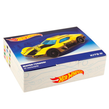 Гуашь Kite Hot Wheels HW19-063, 12 цветов