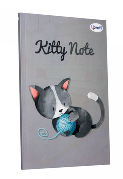 Блокнот Profiplan Kitty Note B6, grey, 80 страниц