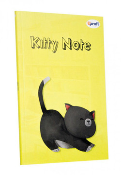 Блокнот Profiplan Kitty Note B6, yellow, 80 страниц