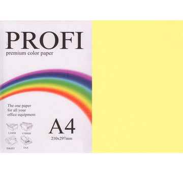 "Бумага цветная ""PROFI"" А4. 80г (500л) Light Yellow N 160 (желт)"