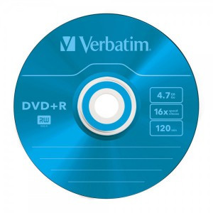Диск Verbatim DVD+R 4.7Gb Slim (Colour)